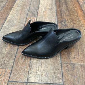 Treasure & Bond Black Leather Hayden Studded Mules